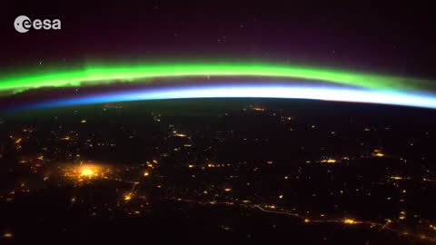 Stunning timelapse of the Aurora borealis from space