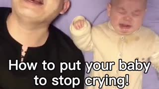 How to make the baby stop crying