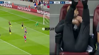 VIDEO: Aguero missed 2 penalties in 15 minutes and Guardiola's reaction - Video