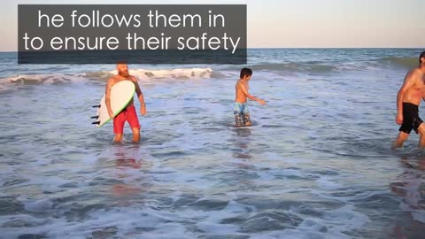 Off Duty Lifeguard Saves Two Beachgoers While Giving An Interview