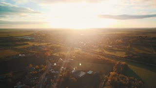Sunset from a Drone  - Video