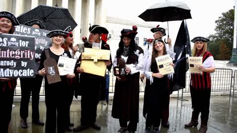Pirates for Ballot Integrity Rally Singing at Supreme Court 👉 WATCH for...