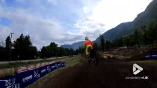 Motocross Chase from a drone - Video