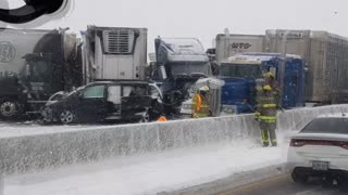 Winter Weather Causes Massive Crashes