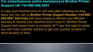 8000465291 How to fix Brother Printer Machine Error Code 41? - Video
