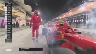 Video registró momento en que Raikkonen atropelló a uno de sus mecánicos - Video