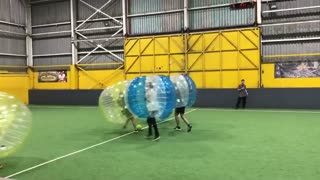 Collab copyright protection - bubble soccer collission green flies - Video