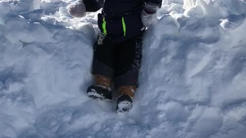Ambitious Toddlers snow jump
