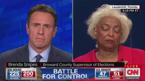 CNN's Cuomo grills Broward's Snipes on outstanding votes in Florida