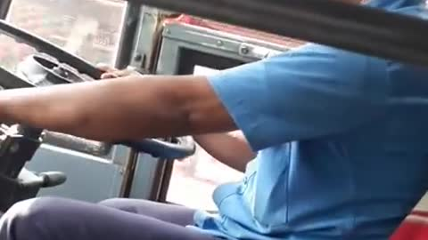 Bus Driver In India Nearly Falls Asleep At The Wheel