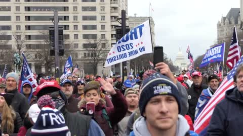 America at stake: Huge pre-rally turnout in DC for Trump