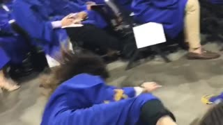 Graduation Backflip Fail - Video