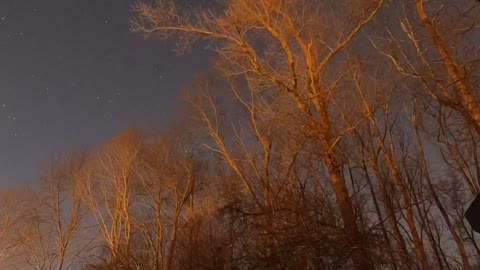 Overnight time lapse of the night sky 3/7/21