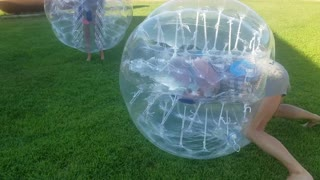 Gramma laughing while stuck in bumper ball  - Video