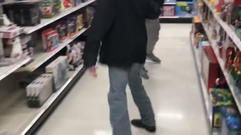 Lightsaber fight at Target