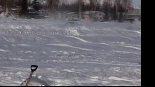 Racing on a frozen lake