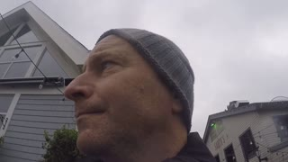 Walking around an a Stormy Day in Down Town Halifax - Video