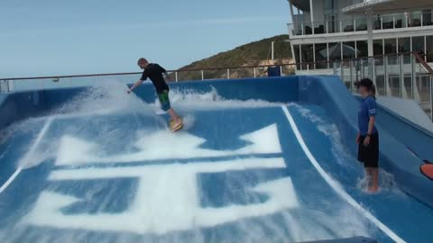Surfing Trick Montage On the World's Largest Cruise Ship Allure Of The Seas!