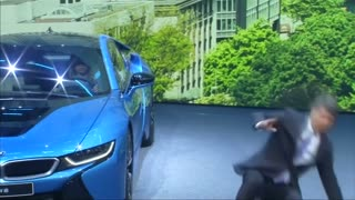 BMW CEO faints on stage at Frankfurt auto show - Video