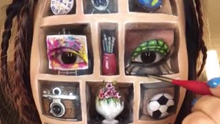 How Illusion of Shelf Makeup Art - Video