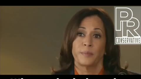 Kamala Harris laughs nervously when confronted