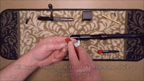 Ruger American Rimfire Rifle Trigger Shims - Installation Instructions