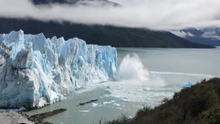 Perito Moreno Glacier Calving in Argentina - Video