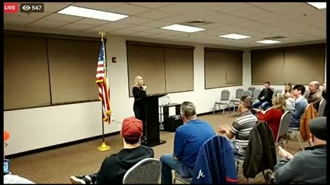 Rep. Marjorie Taylor Greene holds a town hall.