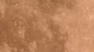 Airplane Flies in Front of Moon - Video