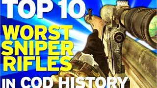 Top 10 worst sniper rifles in Call of Duty history