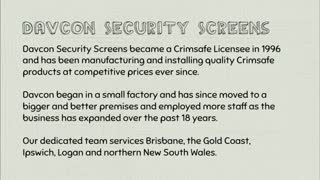 Security Doors Gold Coast - Video