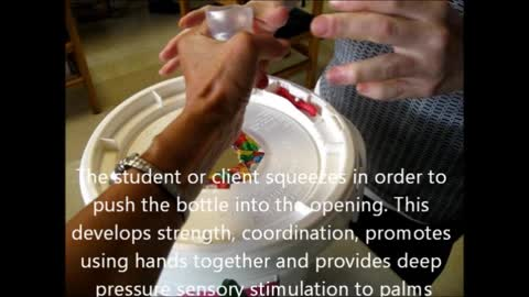 Creating Push and Squeeze Activities for students with Sensory Processing Disorders