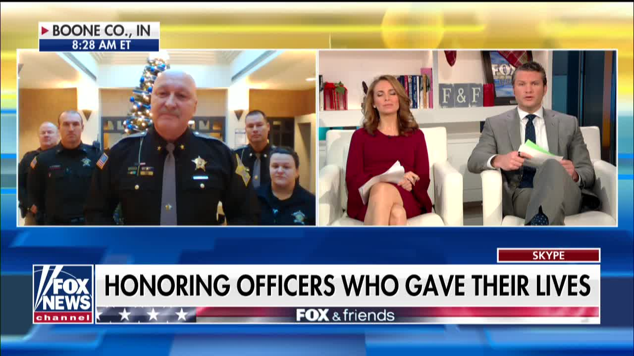 Michael Berry - Boone County Sheriff Mike Nielsen speaks about special Christmas tree