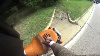 Buck Takes Out Motorcyclist - Video