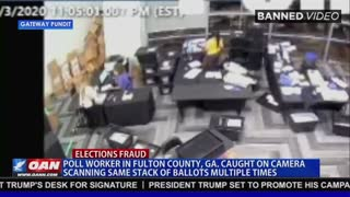 Trump Retweets Video Of GA Ballots Being Counted Multiple Times