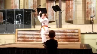 Karate Teen HUMILIATED When Adorable Kid Brother Takes Stage - Video
