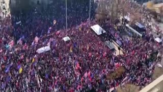 Million MAGA March - DC - Aerial Shot