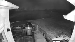 Ring Camera Catches Meteor at Night