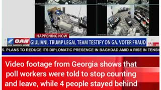 2020 ELECTION FRAUD caught on video in Georgia!