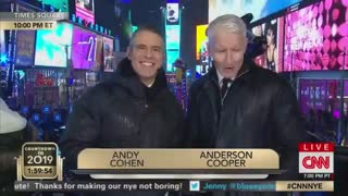 Anderson Cooper taking tequila shots live on air