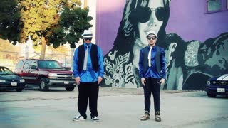 Dancing duo perform epic dubstep dance moves to Michael Jackson's 'Smooth Criminal'