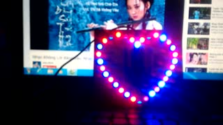 Heart 32 light blue led. - Video