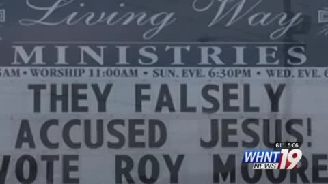 Alabama Church Faces Backlash Over Sign About Roy Moore - Here's What It Read
