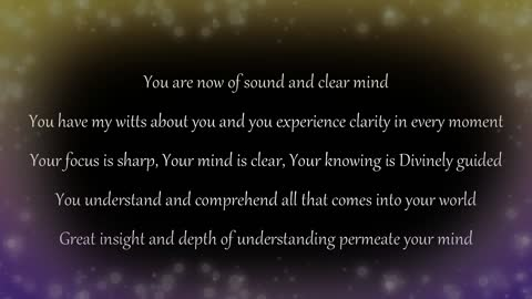 I am... of sound and clear mind affirmations