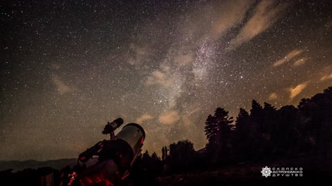 Stunning Milky Way timelapse captured in Macedonia