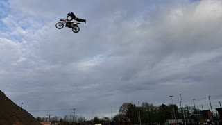 Amazing Slow Motion MotoCross backflip  - Video