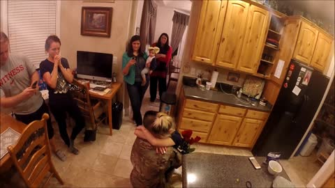 Army Soldier Surprises Wife and Daughter Returning Home