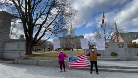 Inauguration Protests In Concord Lightly Attended