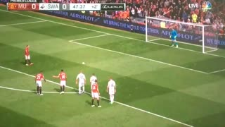 GOOOAL Wayne Rooney vs Swansea 1-0 - Video
