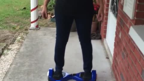 Mom Tries The Hoverboard!